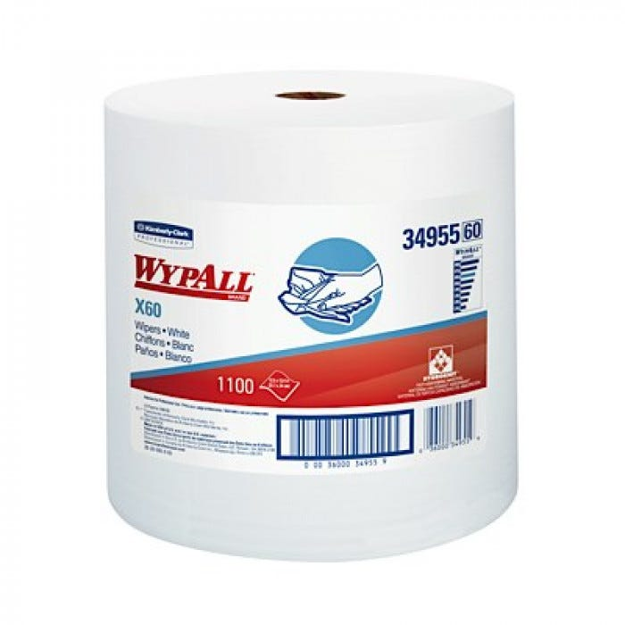 Wypall X60 Teri Wipers Roll And Dispensers