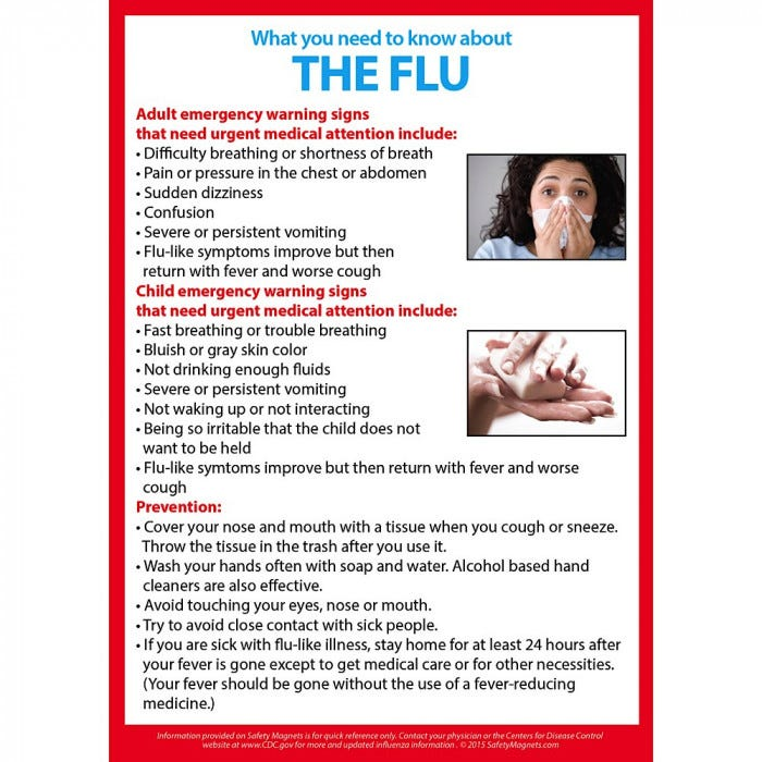 What You Need To Know About The Flu Magnet 5 X 7 Bulletin Board