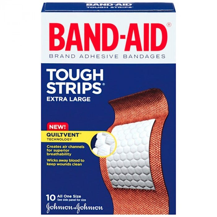 Johnson And Johnson Band Aid Extra Large Tough Str