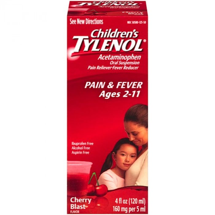 Children S Tylenol on old bedding disposal