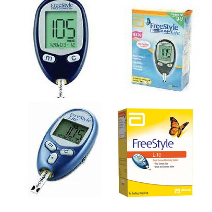 Freestyle Lite Blood Glucose Monitoring System Glucose