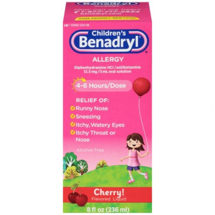 Children S Benedryl Health Services