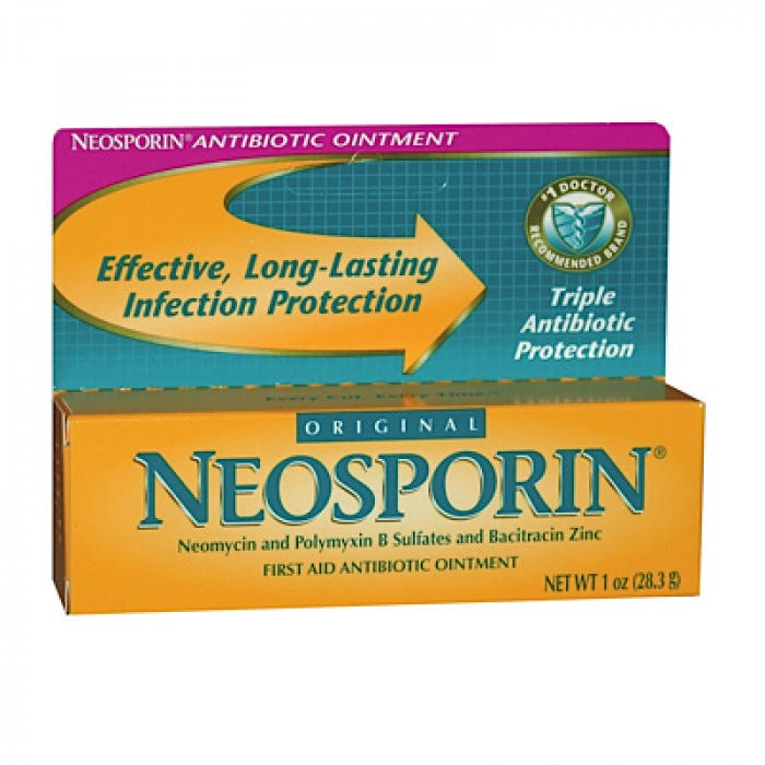 Neosporin + Pain Relief Ointment works to help prevent infection and provide maximum-strength pain relief from minor cuts, scrapes, and burns.