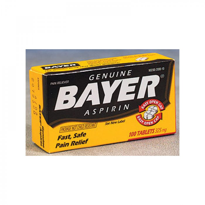 Bayer Aspirin Regular Strength 325 mg (50/2's)
