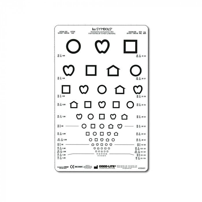 10 Ft Distance Lea Symbols 9 X 14 Visual Acuity Chart Response