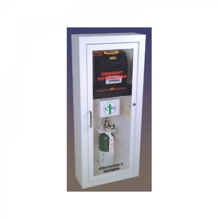 LIFESTART AED And Oxygen Cabinet (Comes With Lif O Gen Automated Oxygen Tank
