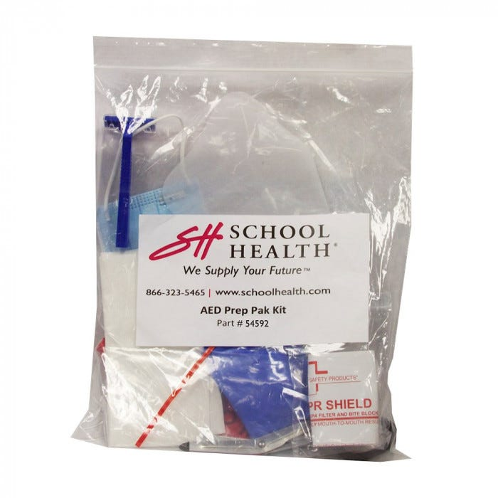 School Health Aed Prep Kit In Plastic Bag First