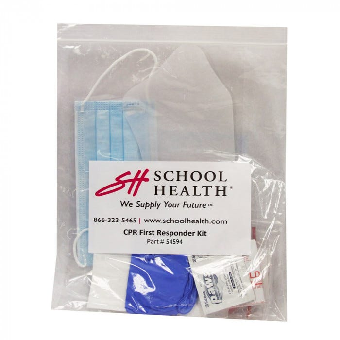 School Health Emergency Prep Kits In Plastic Bag First