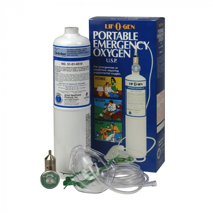 Lif O Gen Disposable Emergency Oxygen Tank Oxygen