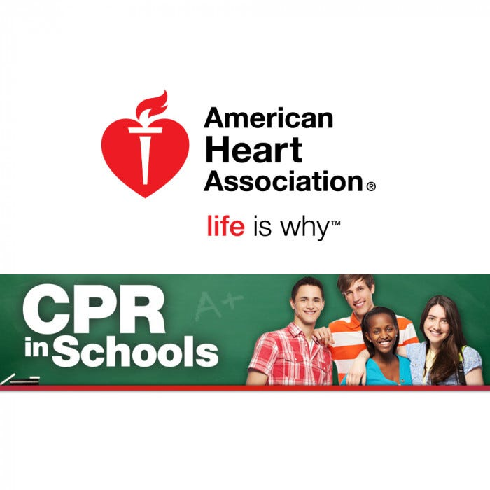 american heart association cpr in schools training kit american