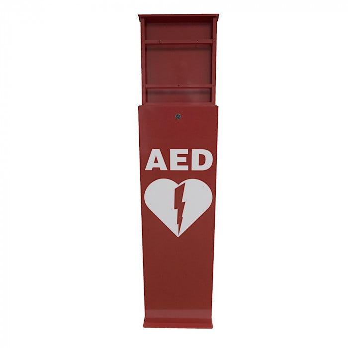 Indoor/Outdoor Stand For School Health Brand Red Cabinets