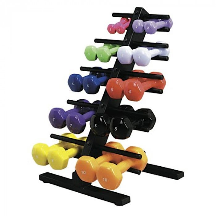 Cando Floor Stand Dumbbell Rack Weights Rehabilitation