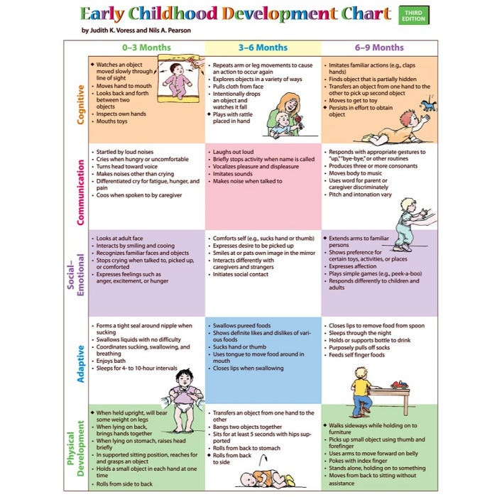 Early Childhood Development Chart 3rd Edition Child