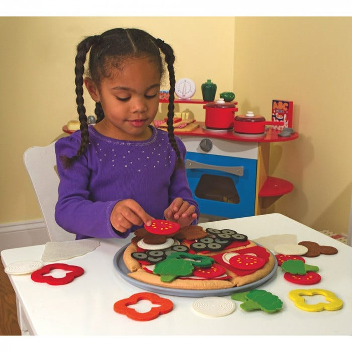 Melissa Amp Doug Felt Food Pizza Set Kitchen Dramatic