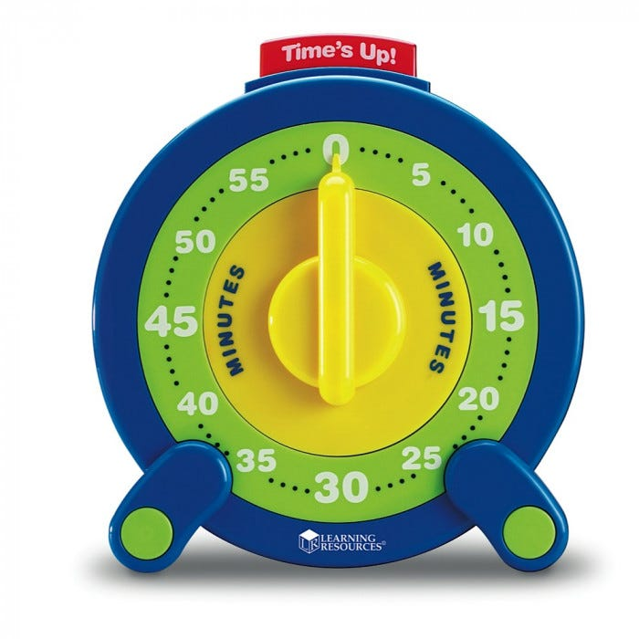 60-minute jumbo timer - visual attention