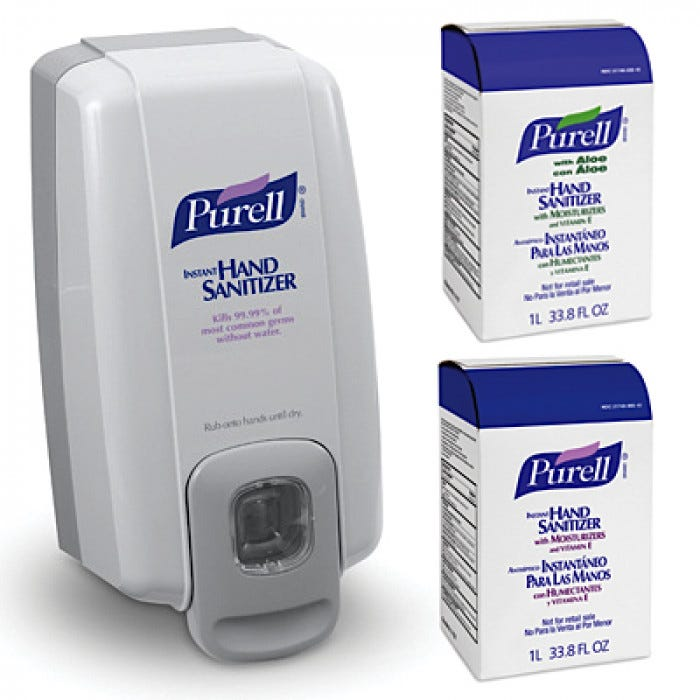 Purell Nxt Space Saver Instant Hand Sanitizer Dispenser And 1000