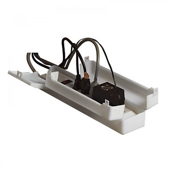 power strip safety cover with cord ties each. Black Bedroom Furniture Sets. Home Design Ideas