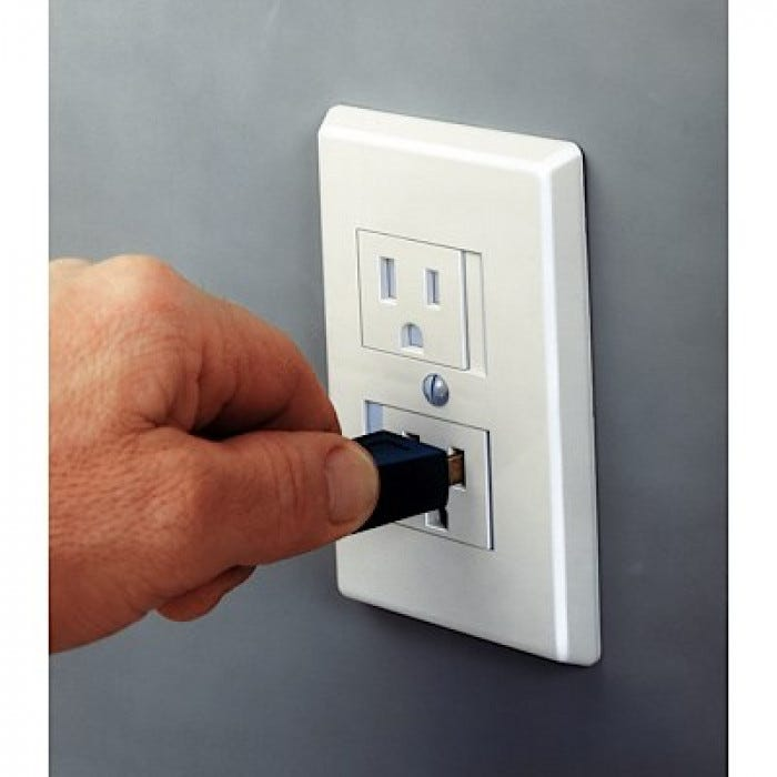 Safe Plate Outlet Cover White