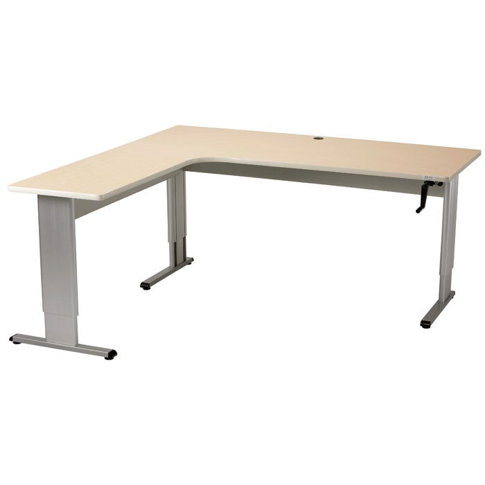 Accella X LShape Adjustable Desk Accessible Desks - Adjustable training table