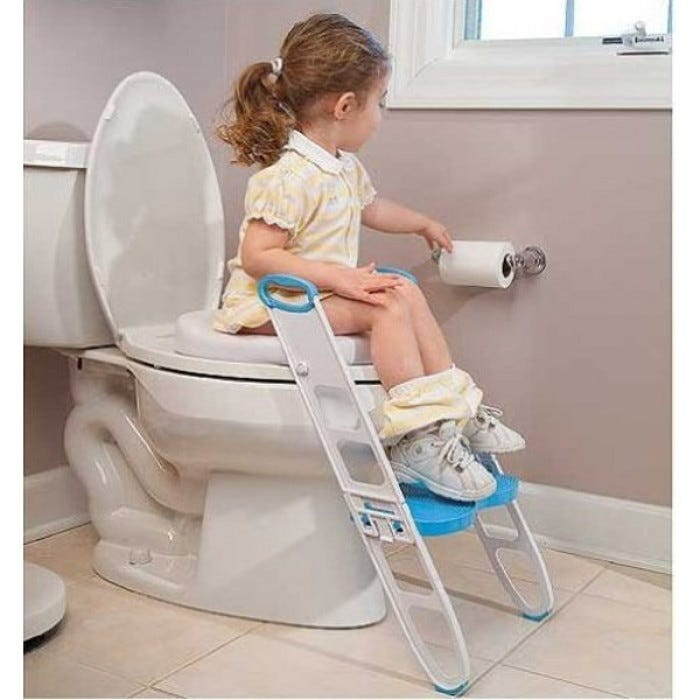 Contoured Cushie Step Up Padded Potty Seat With Step Stool