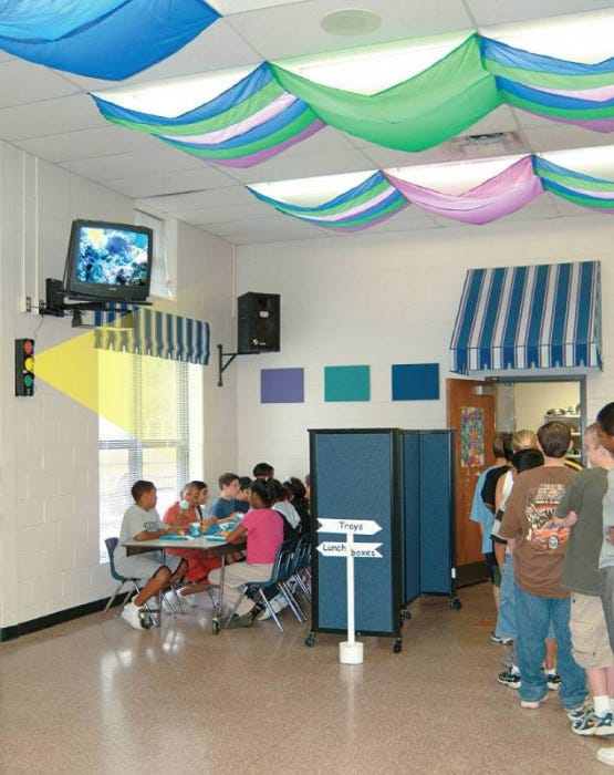 Classroom Design For Special Needs ~ Cozy shades light softening filters environment