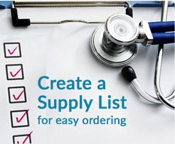 Create a Supply List for Easy Ordering!