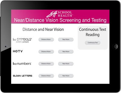 School Health Ipad Vision Screening App